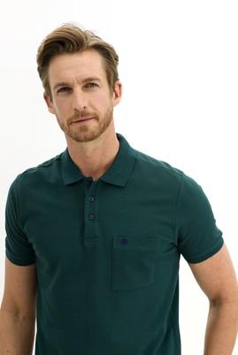 Erkek Giyim - ZÜMRÜT YEŞİLİ L Beden Polo Yaka Regular Fit Tişört