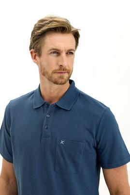 Erkek Giyim - KOYU İNDİGO 3X Beden Polo Yaka Regular Fit Tişört