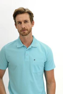 Erkek Giyim - AÇIK TURKUAZ 3X Beden Polo Yaka Regular Fit Tişört