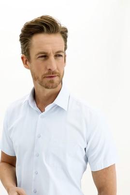 Erkek Giyim - UÇUK MAVİ 3X Beden Regular Fit Kısa Kol Gömlek