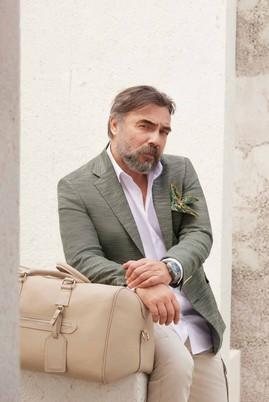 Erkek Giyim - KOYU YEŞİL 52 Beden Regular Fit Desenli Ceket