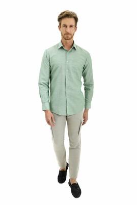 Erkek Giyim - AÇIK KAHVE 46 Beden Slim Fit Keten Pantolon