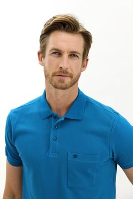 Erkek Giyim - PETROL YEŞİLİ 3X Beden Polo Yaka Regular Fit Tişört