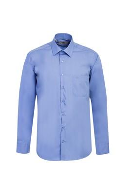 Erkek Giyim - AQUA MAVİSİ M Beden Uzun Kol Klasik Gömlek