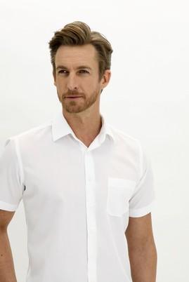 Erkek Giyim - BEYAZ 3X Beden Kısa Kol Regular Fit Gömlek
