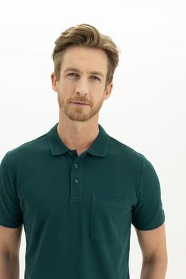 Erkek Giyim - ZÜMRÜT YEŞİLİ 3X Beden Polo Yaka Regular Fit Tişört
