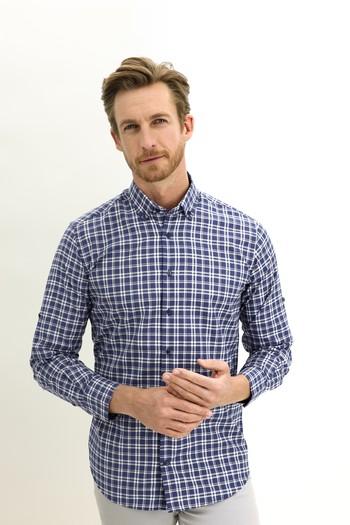 Erkek Giyim - Uzun Kol Regular Fit Ekose Spor Gömlek