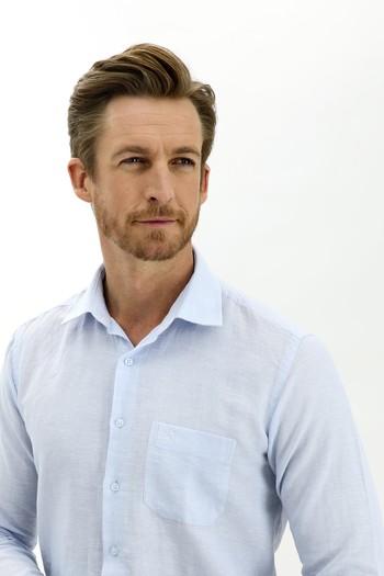 Erkek Giyim - Uzun Kol Keten Relax Fit Gömlek