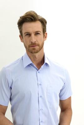 Erkek Giyim - GÖK MAVİSİ L Beden Kısa Kol Regular Fit Gömlek