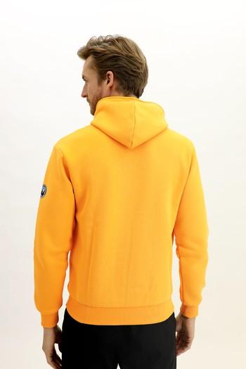 Erkek Giyim - Kapüşonlu Asimetrik Sweatshirt