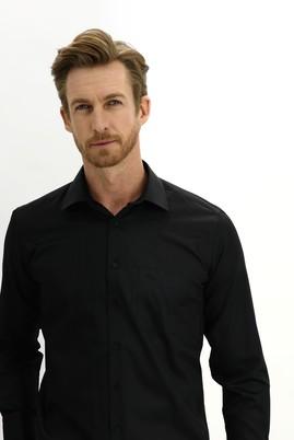 Erkek Giyim - SİYAH M Beden Uzun Kol Non Iron Klasik Gömlek