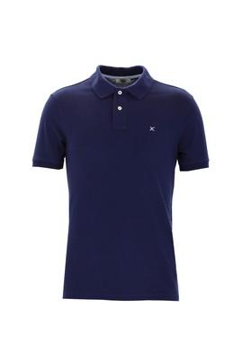 Erkek Giyim - SAKS MAVİ S Beden Polo Yaka Slim Fit Tişört