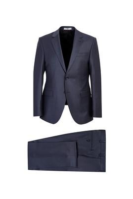 Erkek Giyim - AÇIK ANTRASİT 58 Beden Slim Fit Yünlü Takım Elbise
