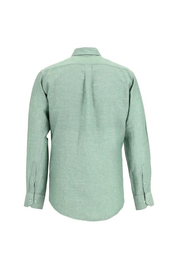 Uzun Kol Keten Relax Fit Gömlek