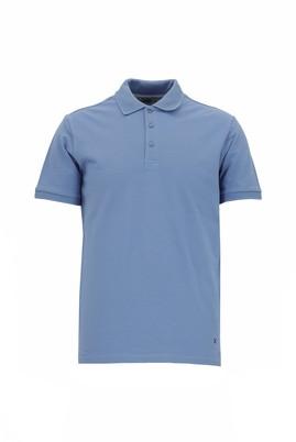 Erkek Giyim - GÖK MAVİSİ L Beden Polo Yaka Slim Fit Tişört