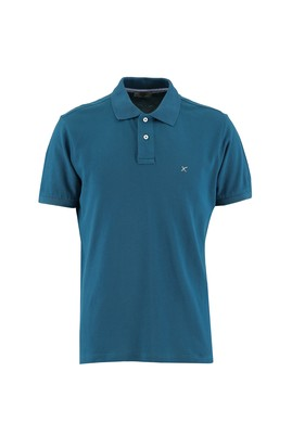 Erkek Giyim - ORTA PETROL 3X Beden Polo Yaka Regular Fit Tişört