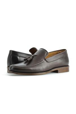 Erkek Giyim - KOYU KAHVE 40 Beden Püsküllü Klasik Deri Ayakkabı