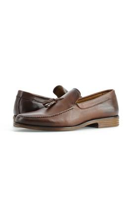 Erkek Giyim - TABA 40 Beden Püsküllü Klasik Deri Ayakkabı