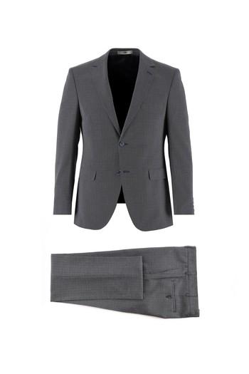 Erkek Giyim - Desenli Slim Fit Takım Elbise