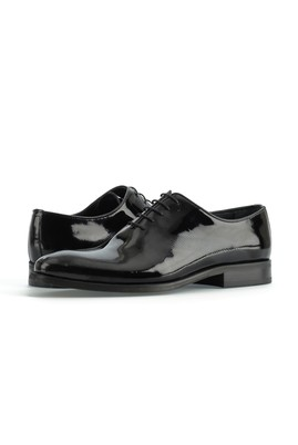 Erkek Giyim - SİYAH 40 Beden Klasik Rugan Ayakkabı