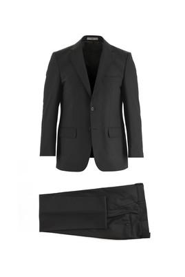 Erkek Giyim - SİYAH 68 Beden Yünlü Klasik Takım Elbise