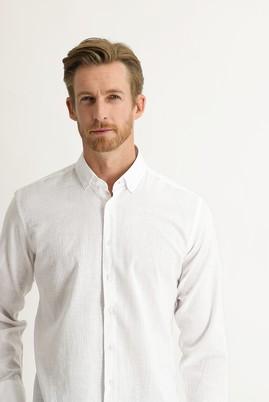 Erkek Giyim - BEYAZ 3X Beden Uzun Kol Relax Fit Gömlek