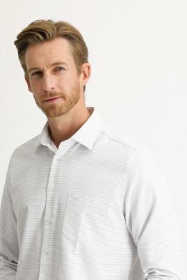 Erkek Giyim - SİYAH M Beden Uzun Kol Desenli Klasik Gömlek