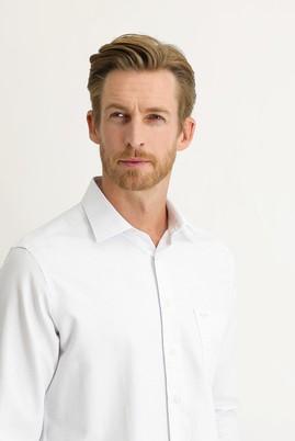 Erkek Giyim - AÇIK MAVİ XXL Beden Uzun Kol Desenli Klasik Gömlek
