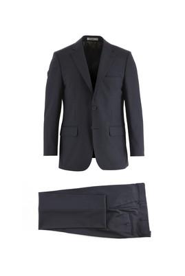 Erkek Giyim - KOYU LACİVERT 62 Beden Yünlü Klasik Takım Elbise