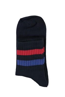 Erkek Giyim - ORTA LACİVERT 40-44 Beden Spor Soket Çorap