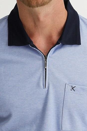 Erkek Giyim - Polo Yaka Regular Fit Fermuarlı Tişört
