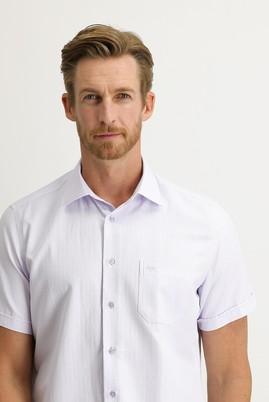 Erkek Giyim - LİLA XL Beden Kısa Kol Regular Fit Desenli Gömlek
