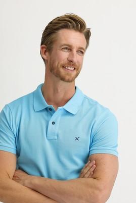 Erkek Giyim - ORTA TURKUAZ S Beden Polo Yaka Slim Fit Tişört