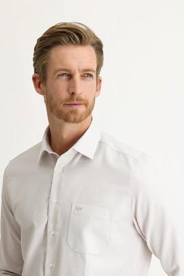 Erkek Giyim - AÇIK KAHVE XL Beden Uzun Kol Regular Fit Desenli Gömlek