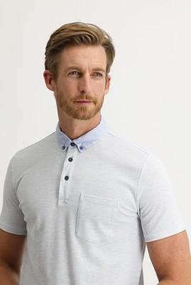 Erkek Giyim - UÇUK MAVİ 3X Beden Polo Yaka Regular Fit Tişört