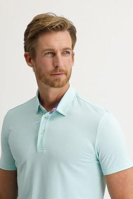Erkek Giyim - MİNT YEŞİLİ L Beden Polo Yaka Slim Fit Tişört