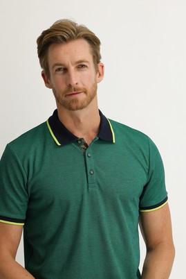 Erkek Giyim - ORMAN YEŞİLİ L Beden Polo Yaka Regular Fit Tişört