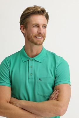 Erkek Giyim - KOYU YEŞİL M Beden Polo Yaka Regular Fit Tişört