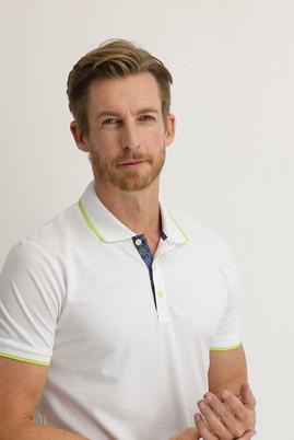 Erkek Giyim - BEYAZ M Beden Polo Yaka Regular Fit Tişört