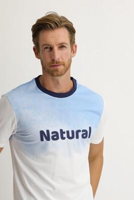Erkek Giyim - BEYAZ XL Beden Bisiklet Yaka Regular Fit Baskılı Tişört