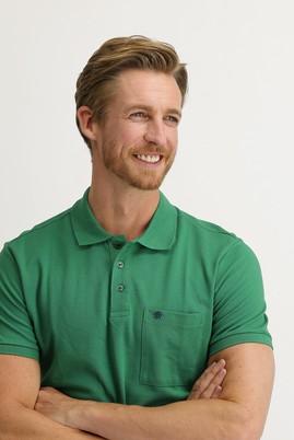 Erkek Giyim - ÇAĞLA YEŞİLİ 3X Beden Polo Yaka Regular Fit Tişört