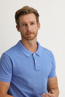 Erkek Giyim - GÖK MAVİSİ XL Beden Polo Yaka Slim Fit Tişört