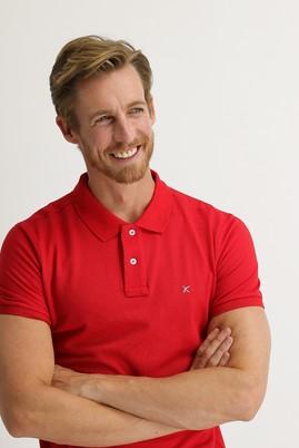 Erkek Giyim - BAYRAK KIRMIZI L Beden Polo Yaka Slim Fit Tişört