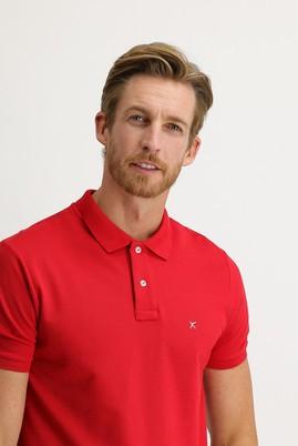 Erkek Giyim - BAYRAK KIRMIZI XL Beden Polo Yaka Regular Fit Tişört