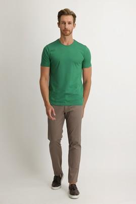 Erkek Giyim - AÇIK VİZON 54 Beden Slim Fit Kuşgözü Spor Pantolon