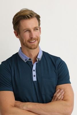 Erkek Giyim - ZÜMRÜT YEŞİLİ XL Beden Polo Yaka Slim Fit Tişört