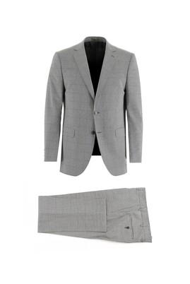 Erkek Giyim - AÇIK GRİ 50 Beden Regular Fit Desenli Takım Elbise