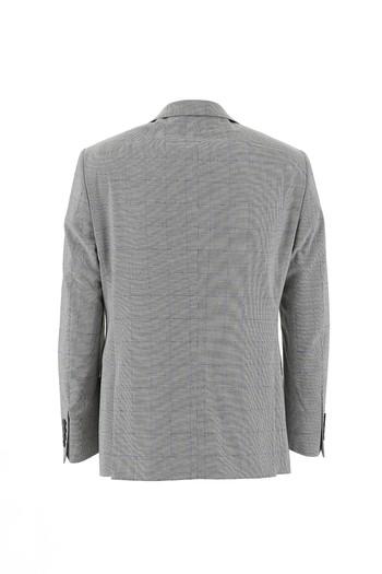 Erkek Giyim - Regular Fit Desenli Takım Elbise