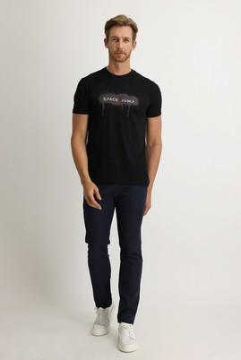 Erkek Giyim - HAVACI MAVİ 50 Beden Slim Fit Denim Look Pantolon