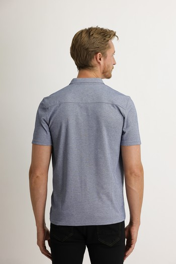 Erkek Giyim - Yarım İtalyan Yaka Slim Fit Gömlek Tişört